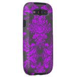 Damasco púrpura gris del vintage de la galaxia de  galaxy s3 fundas