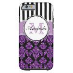 Damasco púrpura moderno femenino del brillo funda de iPhone 6 tough