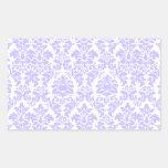 Damasco púrpura rectangular pegatinas