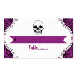 Damasco púrpura, tarjeta negra de los cráneos del  plantilla de tarjeta personal