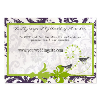 Damasco púrpura verde de Lapis que casa tarjetas d