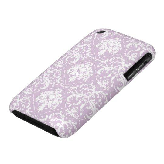 Damasco púrpura y blanco del cardo bonito funda para iPhone 3 de Case-Mate
