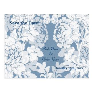 damasco - reserva del jardín secreto la invitación postal