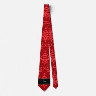 Damasco rojo brillante conocido personalizado corbatas personalizadas