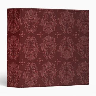 """Damasco rojo de rubíes del placer del Victorian Carpeta 1 1/2"""""""