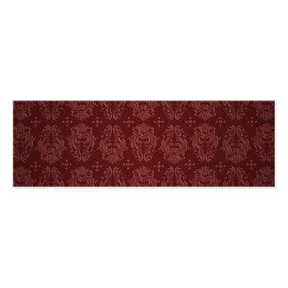 Damasco rojo de rubíes del placer del Victorian Tarjeta De Visita