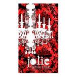 Damasco rojo del regaliz de Jolie de la CROMATOGRA Plantilla De Tarjeta De Negocio