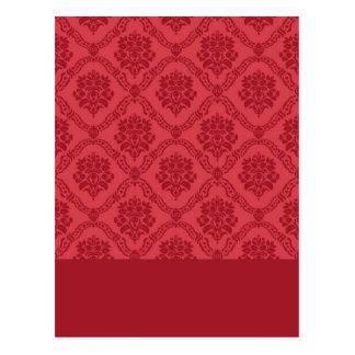 Damasco rojo postal