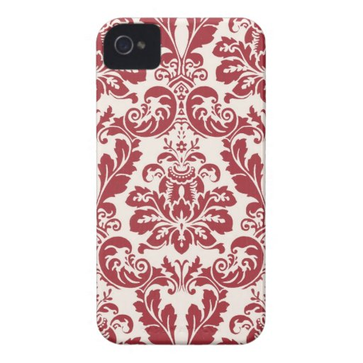 damasco rojo y blanco del caso del iphone 4… funda para iPhone 4