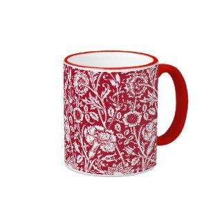 Damasco, rojo y blanco del clavel de Nouveau del Taza De Dos Colores