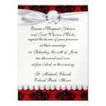 damasco romántico rojo y negro comunicado personalizado