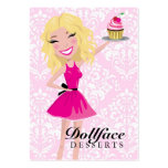 Damasco rosado 3,5 x 2 de Blondie de 311 postres d Tarjeta De Visita