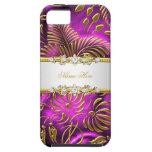 damasco rosado con clase elegante del oro del iPho iPhone 5 Case-Mate Cárcasas