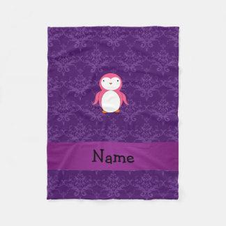 Damasco rosado conocido personalizado de la manta de forro polar