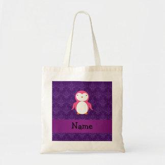 Damasco rosado conocido personalizado de la púrpur bolsa tela barata