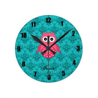 Damasco rosado conocido personalizado de la turque reloj