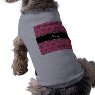 Damasco rosado conocido personalizado camisetas de perrito
