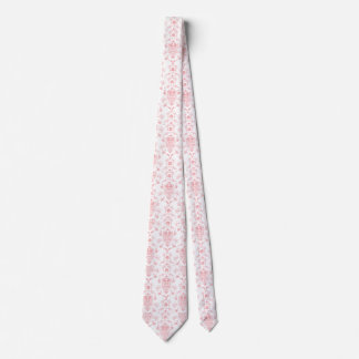 Damasco rosado corbatas