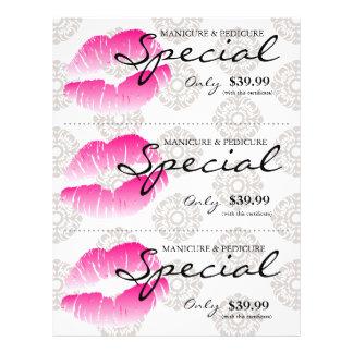 """Damasco rosado de los labios del balneario del avi folleto 8.5"""" x 11"""""""
