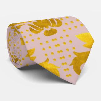 Damasco rosado del oro corbata