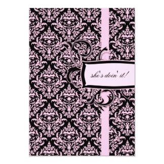 damasco rosado del regaliz 311-Julianna Invitaciones Personales