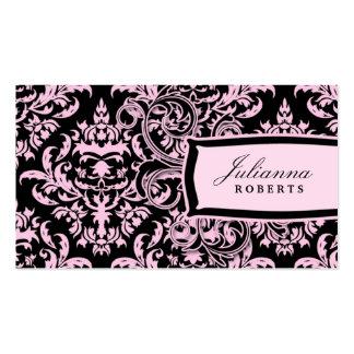 damasco rosado del regaliz 311-Julianna Tarjetas De Negocios