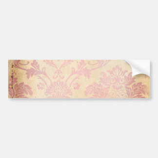 Damasco rosado del vintage etiqueta de parachoque