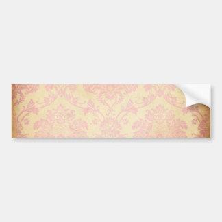 Damasco rosado del vintage pegatina de parachoque