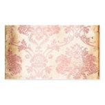 Damasco rosado del vintage plantillas de tarjetas personales