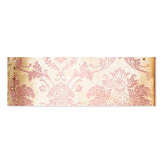 Damasco rosado del vintage tarjetas de visita mini