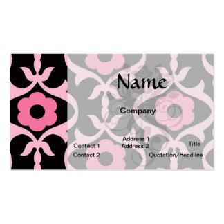 damasco rosado elegante caprichoso de la flor en plantilla de tarjeta de negocio