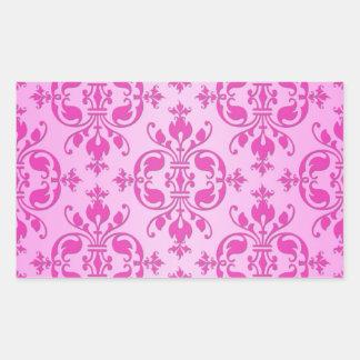 Damasco rosado femenino lindo de dos tonos pegatinas