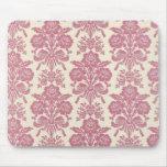 Damasco rosado femenino tapetes de raton