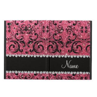 Damasco rosado fucsia negro conocido de encargo