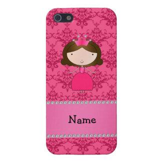 Damasco rosado personalizado de la princesa conoci iPhone 5 carcasa