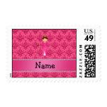 Damasco rosado personalizado de la princesa rosada sello