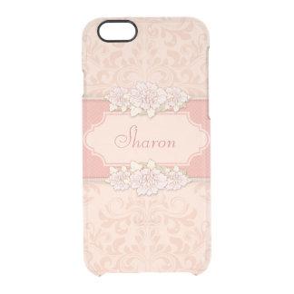 Damasco rosado personalizado floral
