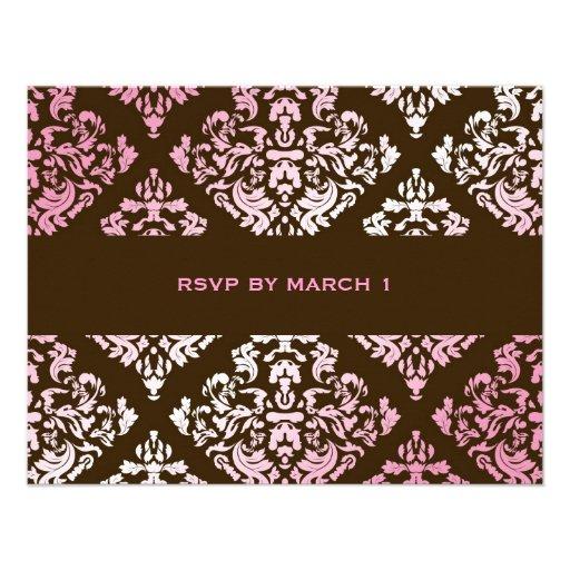 damasco rosado RSVP de 311-Luxuriously N Brown Anuncio Personalizado