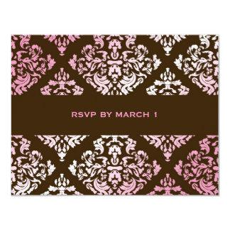"""damasco rosado RSVP de 311-Luxuriously N Brown Invitación 4.25"""" X 5.5"""""""