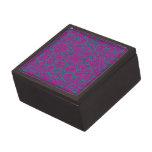 Damasco rosado y azul brillante cajas de recuerdo de calidad
