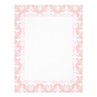 Damasco rosado y blanco amelocotonado de sensación membretes personalizados