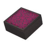 Damasco rosado y negro de neón caja de recuerdo de calidad