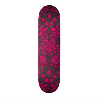 Damasco rosado y negro de neón patines personalizados