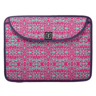Damasco rosado y verde funda para macbooks