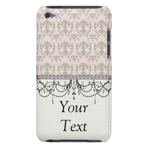 damasco sabio pern en el damasco moderno rosado iPod touch fundas