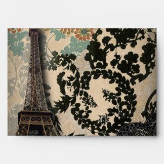 Damasco sofisticado del cordón de la torre Eiffel  Sobre