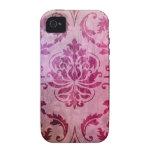 Damasco, sombras y niebla, frambuesa y rosa del di Case-Mate iPhone 4 fundas