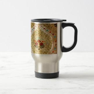 Damasco veneciano de oro taza de viaje