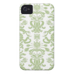 Damasco verde iPhone 4 Case-Mate protectores