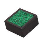 Damasco verde y negro caja de regalo de calidad